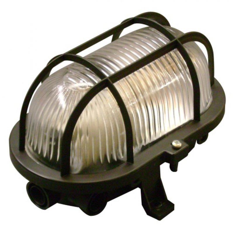 lampe mit schutzkorb schwarz oval f r innen und au en e27 ip44 von intelectra bewegungsmelder. Black Bedroom Furniture Sets. Home Design Ideas